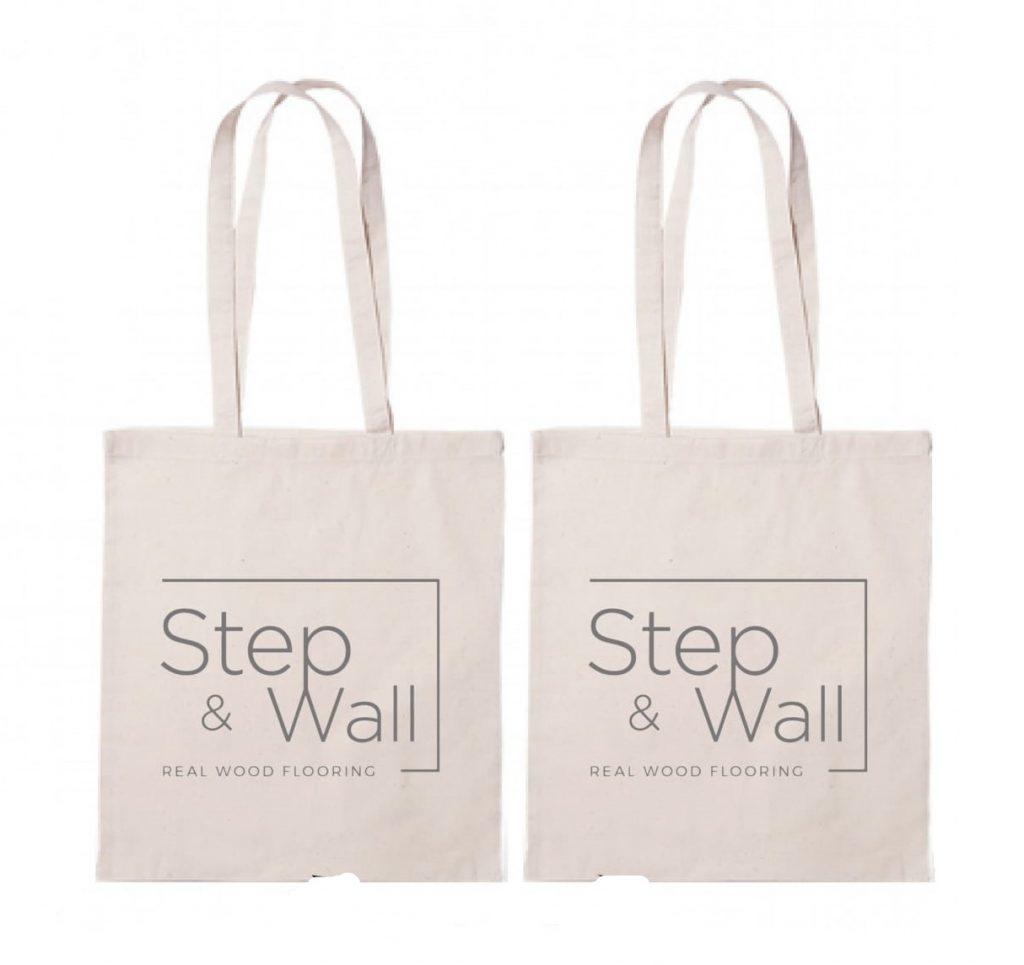 Bolsa de algodón ecológico con personalización serigráfica para regalo de empresa