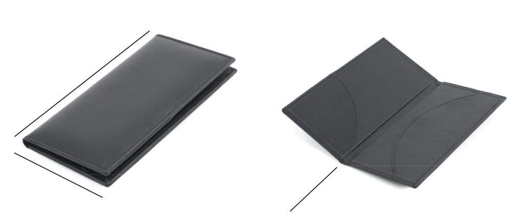 Porta cuentas para restaurantes y hoteles, fabricado en piel natural y polipiel, hecho en España (Made in Espain), con personalización por medio de técnica de termograbado