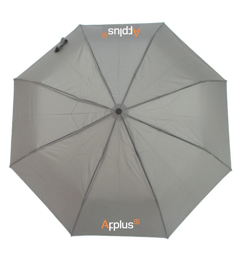 Paraguas corporativo, confeccionado en tela Pongee, ideal como artículo corporativo y para regalo de empresa y publicidad