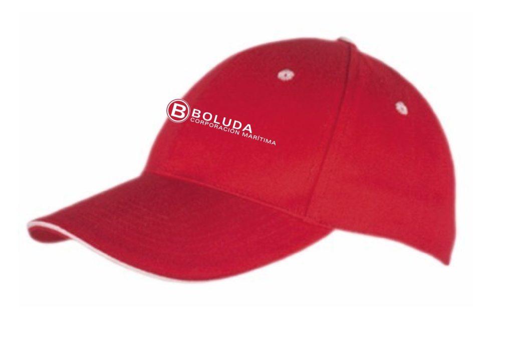 Gorra publicitaria de algodón, con serigrafía a un color especial para regalo de empresa