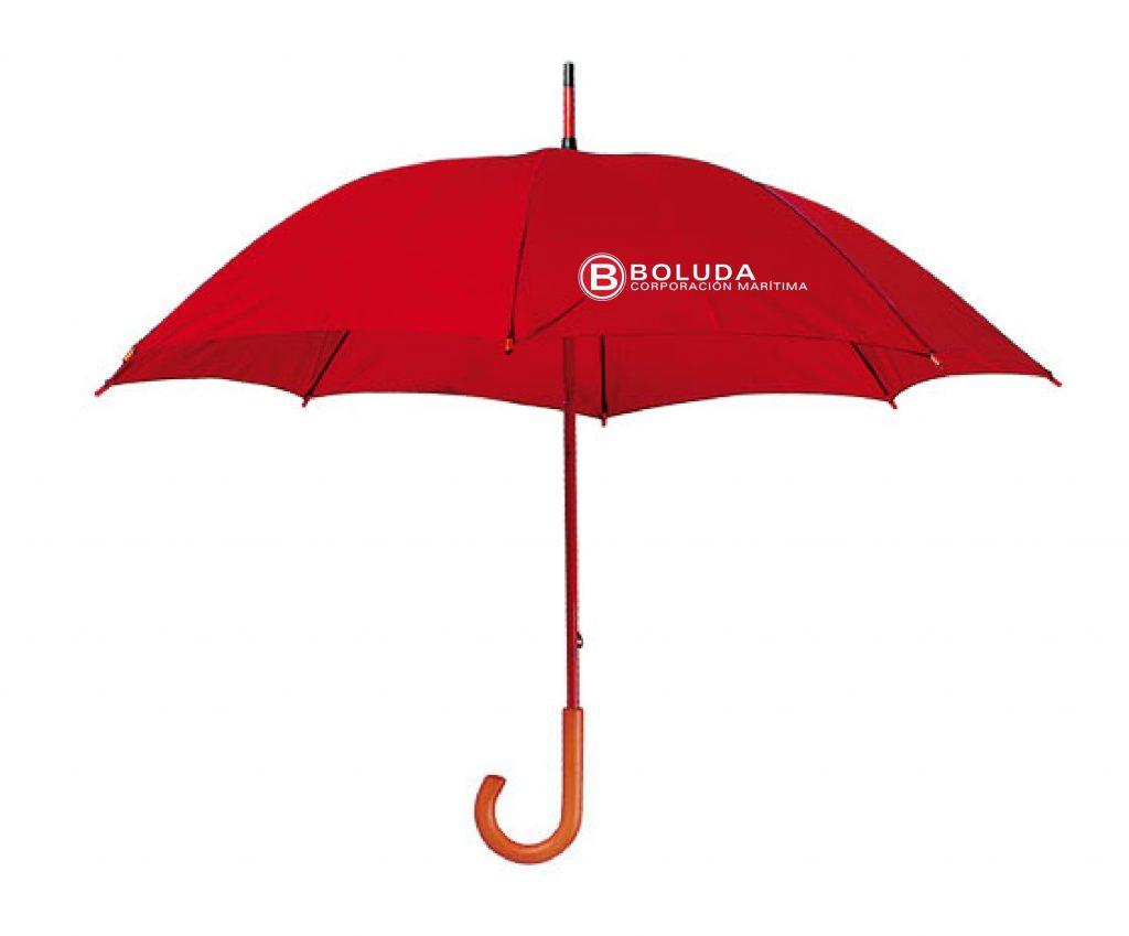 Paraguas para regalo de empresa con tela pongee y personalizado con serigrafía
