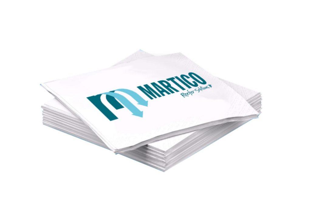 Servilletas de papel, desechables y totalmente personalizables con técnicas de impresión digital